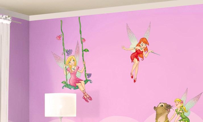 Stickers murali bambini cameretta le fatine leostickers - Decorazioni camerette bambini immagini ...